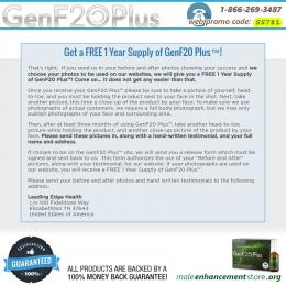 Get a FREE 1 Year Supply of GenF20 Plus