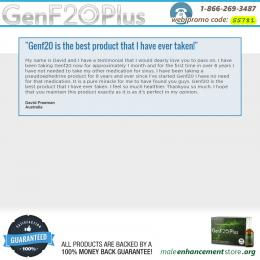 GenF20 Review by David Freeman from Australia