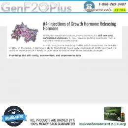 Injections of Growth Hormone Releasing Hormone